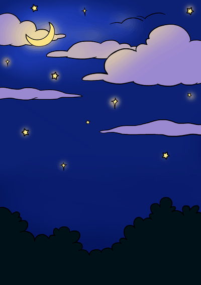 How To Draw A Night Sky Really Easy Drawing Tutorial Easy
