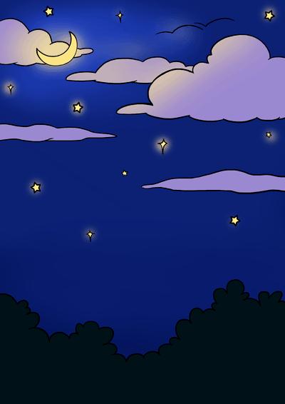 Easy Drawings Night Sky