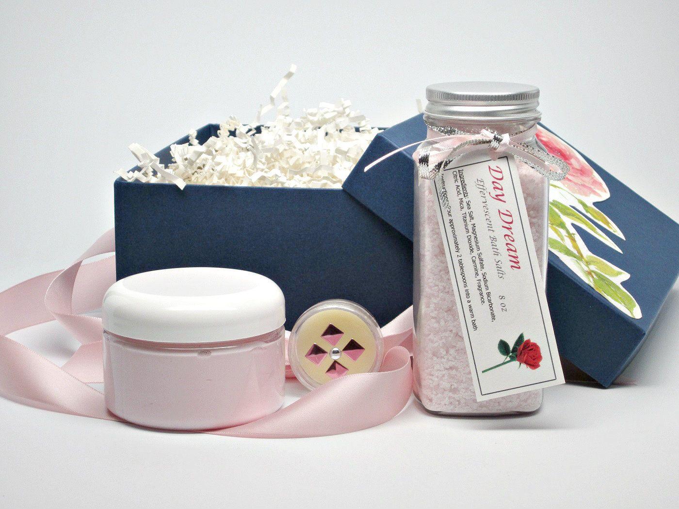 Romantic Bath And Body Gift Set Spa Gift Basket Womens Gift