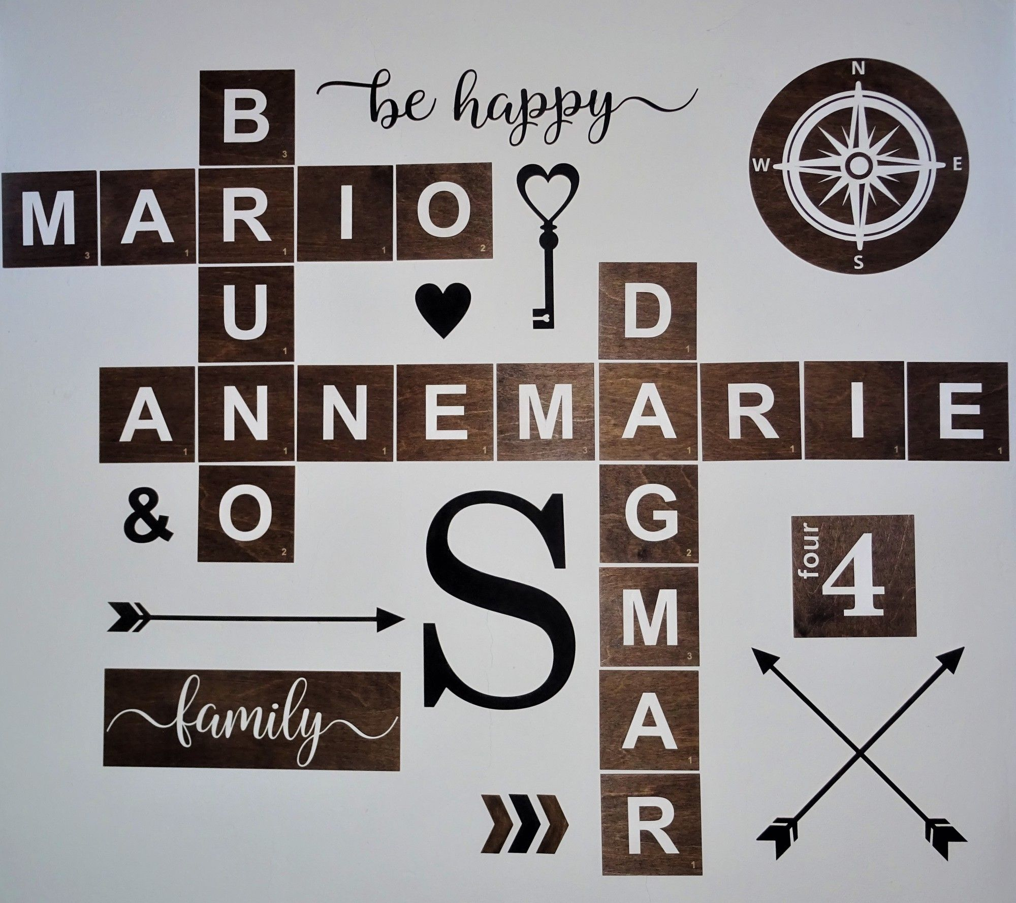 Scrabble Buchstaben Wanddeko