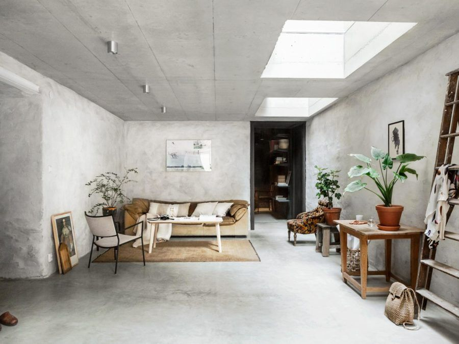 Concrete Walls Interior Trends Raw Cement Walls Scandinavian Style Interio Concrete Walls Interior Apartment Living Room Design Minimalist Living Room Design