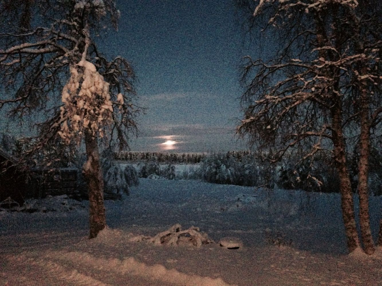 View from my childhood home time of Kaamos