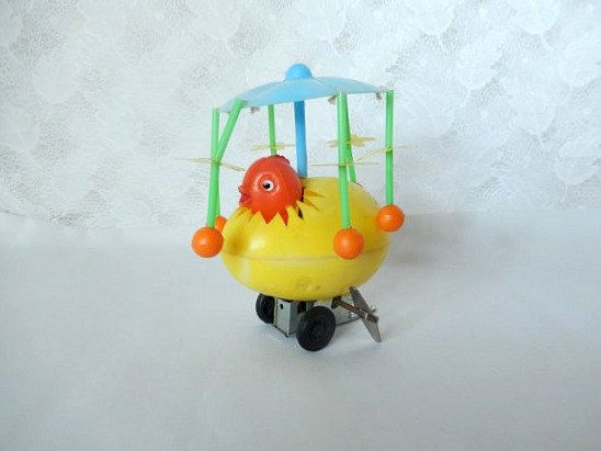 vintage wind up chicken toy Hong Kong works well by brixiana ...