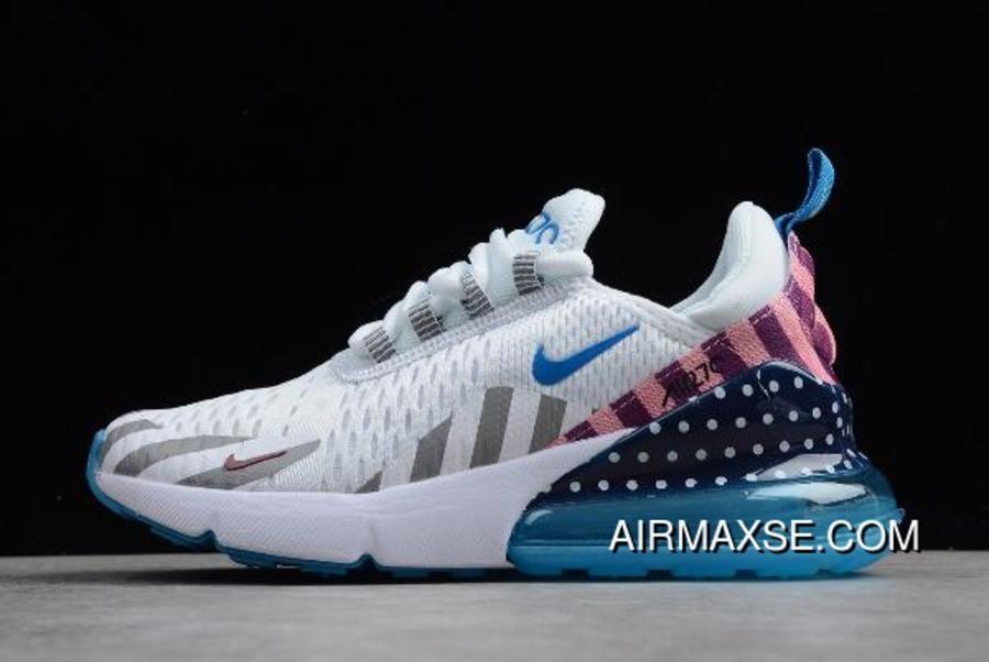 Nike Max 270 WhiteExplosion Green Blue Pink BQ0742 998