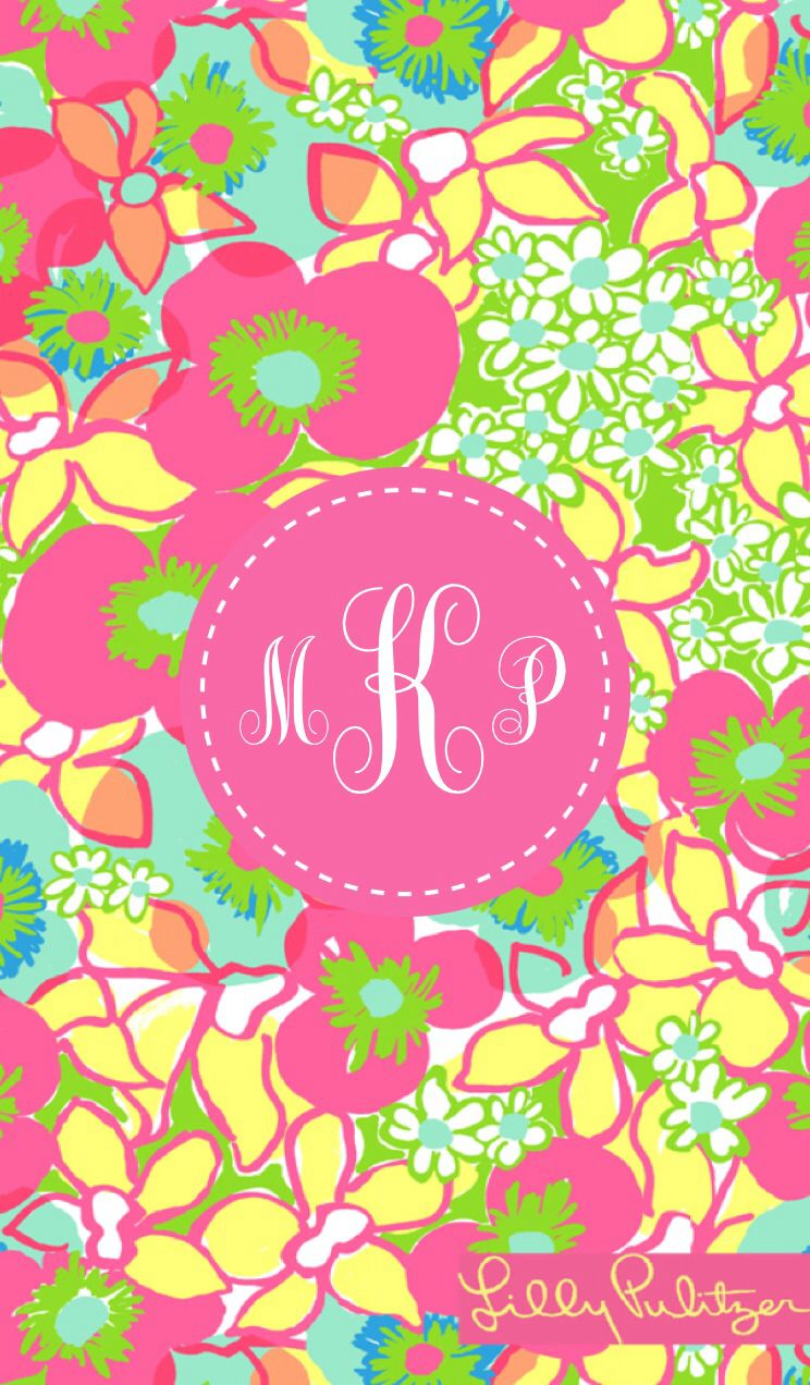 Lilly Pulitzer Iphone Monogrammed Wallpaper By Kati3pleasant Made With MonogramApp