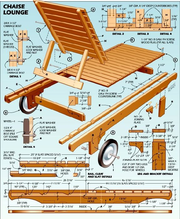 Diy Outdoor Chaise Lounge Free Plans At Buildsomething Com