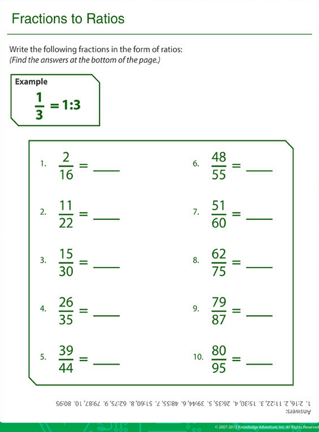 Printable math practice sheet to help your child with ...