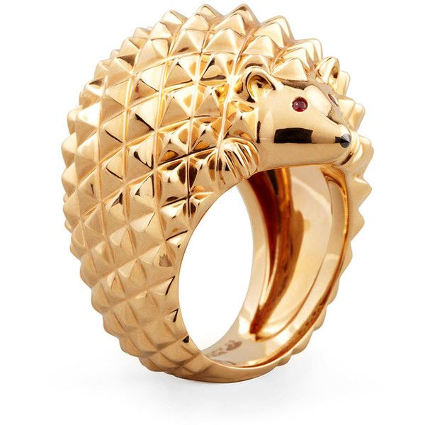 Boucheron 18k Pink Gold Herisson Hedgehog Ring (13 075 AUD) ❤ liked on Polyvore