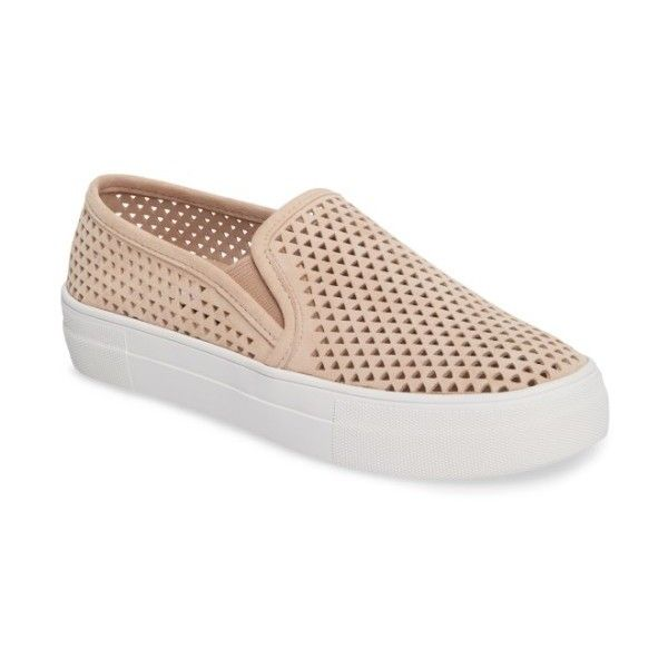 6500b3c76eb Women s Steve Madden Gills Perforated Slip-On Sneaker ( 80) ❤ liked on  Polyvore
