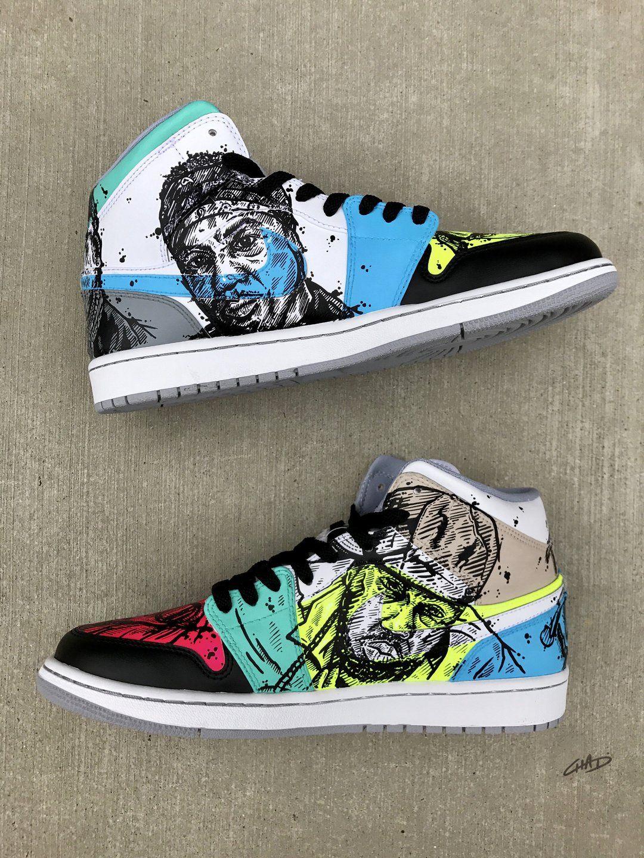 on sale a5a39 bb09f Legends of teh Bay Custom Hand Painted Jordan Retro 1 Shoes