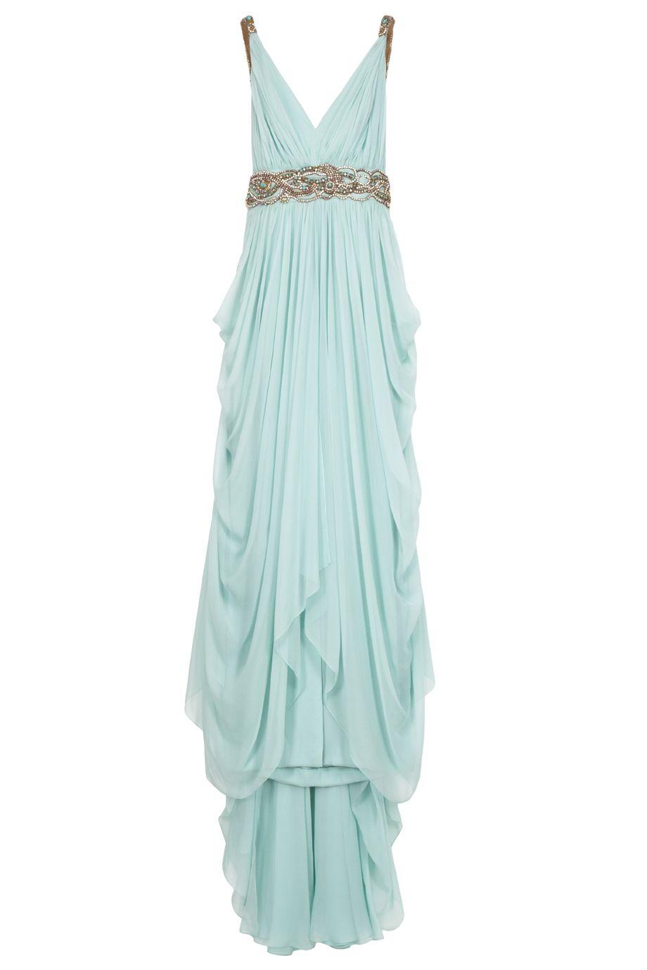 Chiffon Embellished Grecian Gown