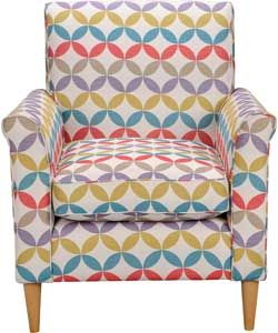 Buy Geometric Print Chair - Multicoloured at Argos.co.uk - Your Online Shop  for Armchairs and chairs. 1d197222196bd