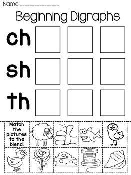 Digraphs Word Sorts Worksheets Language Arts Pinterest Phonics
