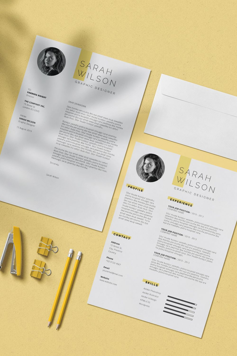 Professional Resume Template For Microsoft Word With Cover Letter Resume Template With Photo Simple Resume Template Cv Template Resume Template Simple Resume Template Resume Template Professional