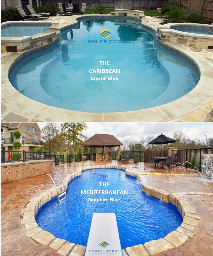 Do You Prefer The Caribbean Or The Mediterranean Leisure Pools Composite Fiberglass Swimming Pools Both Offer B Leisure Pools Pool Backyard Pool Designs
