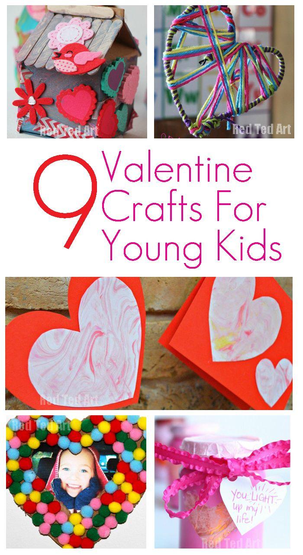 9 Valentine Crafts for Young Children   Valentine crafts ...