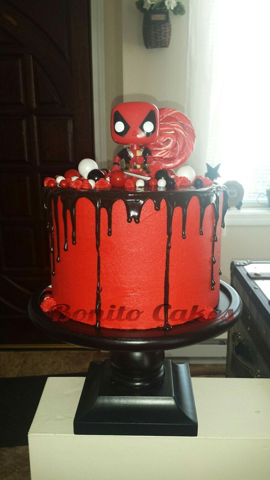 Deadpool Dripping Cake