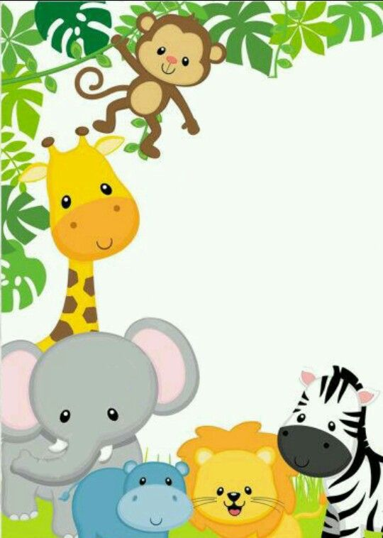 Jungle Party Safari Boy Baby Showers Sports Canvas Ideas Babyshower