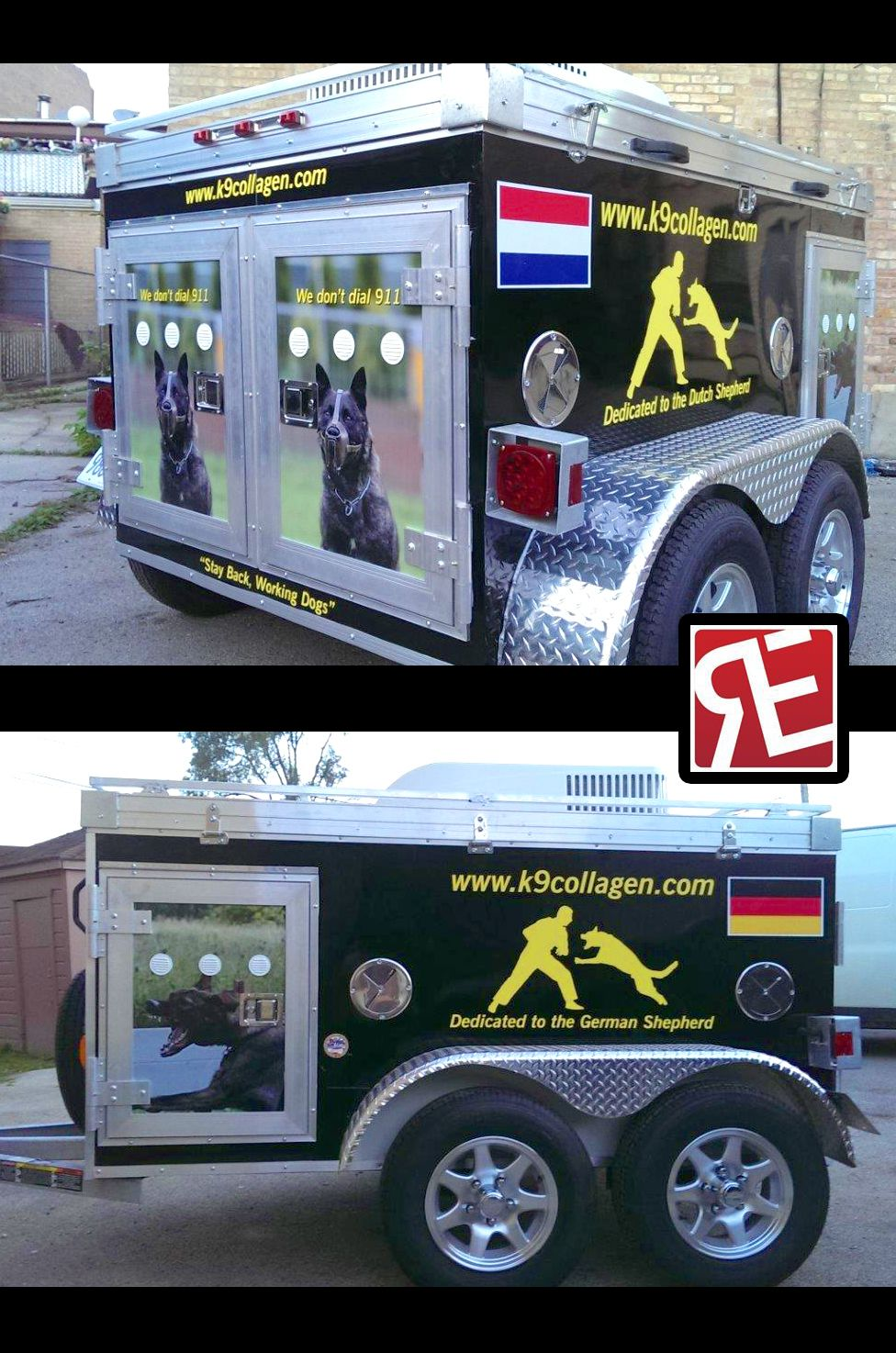 Heres a cool k9 trailer wrap printed and installed by