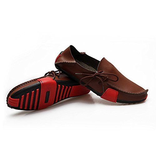 Ceyue Mens Casual Leather Loafers Breathable Driving Shoes