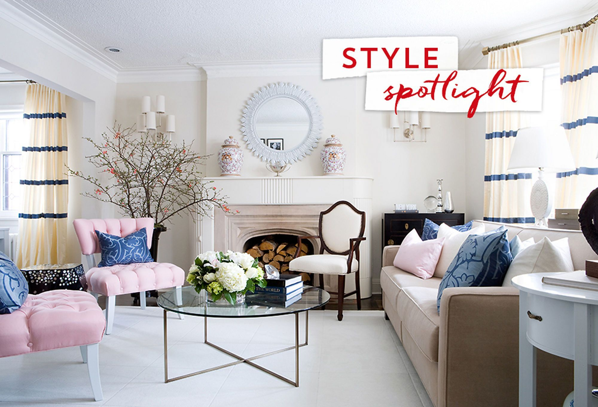 Love the Look An Elegant Eclectic Living Room