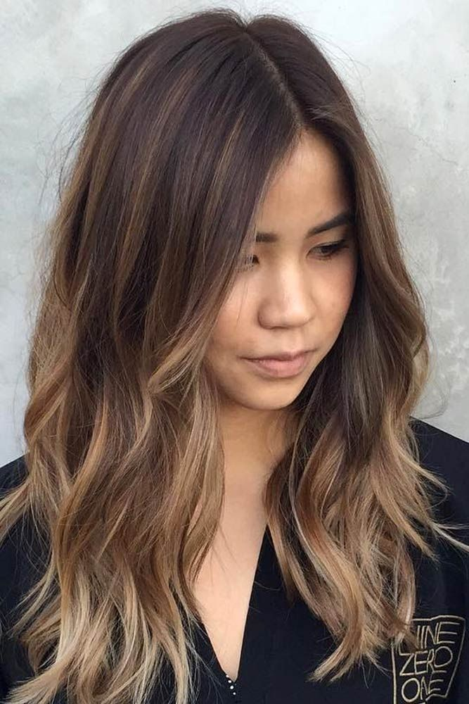 30 balayage hair color ideas with blonde brown and - Balayage braun caramel ...