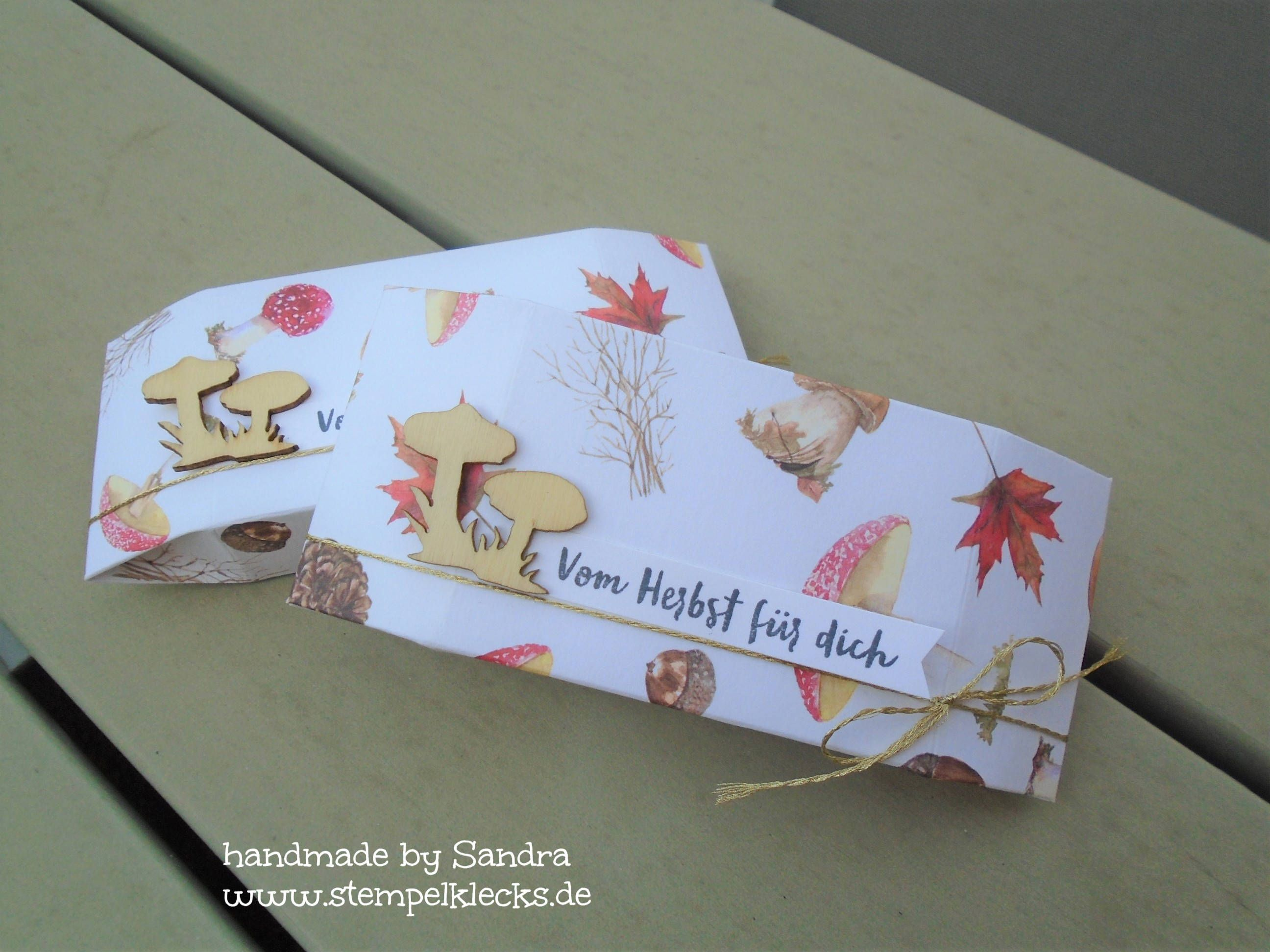 Pilzfreude Steckschachtel Schachtel Verpackung Gutscheine