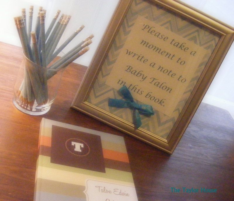 The Taylor House: Baby Shower Guest Book Idea