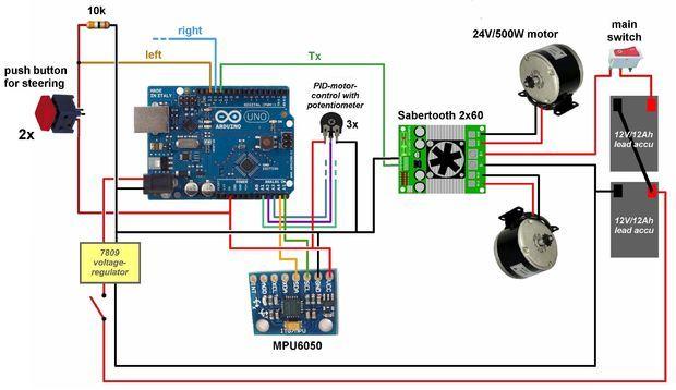 Arduino Segway | Arduino | Arduino, Arduino projects, Diy electronics