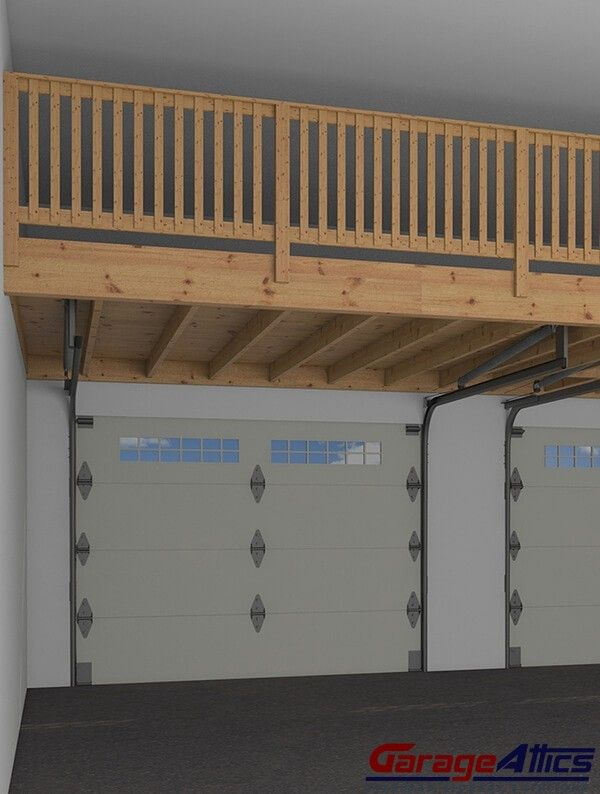 Turn Your Wasted Garage Space Into Additional Storage Area. Custom Garage  Storage Lofts U0026 Storage Shelving.: Railings