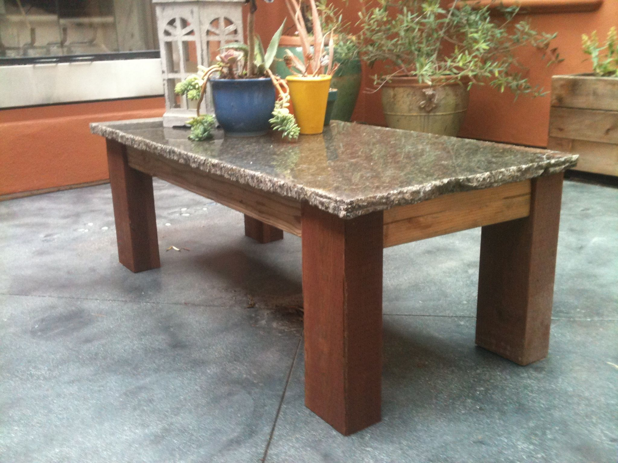 Remnant Granite Makes This Little Table Eye Catching At A Really Low Cost