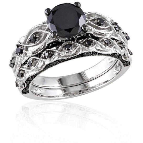 Belk Co Black X Dia Bridal Set Bw Rnd $1 470 ❤ liked on