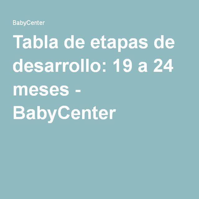 Tabla de etapas de desarrollo: 19 a 24 meses - BabyCenter