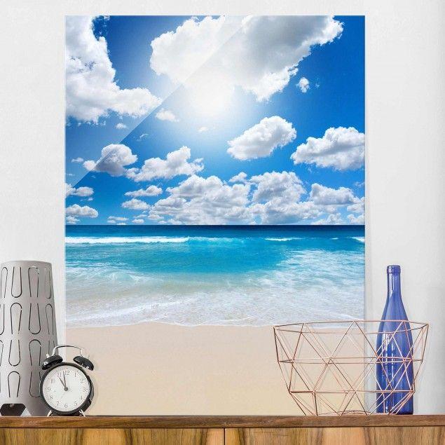 Glasbild - Touch of #paradise - Hoch 43#Glasbild #Glasbilder - glasbilder für die küche