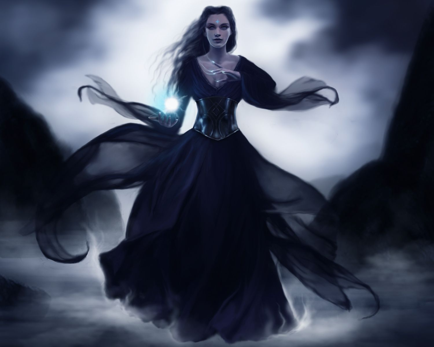 Witch Fantasy Girl Art dark horror gothic fantasy art