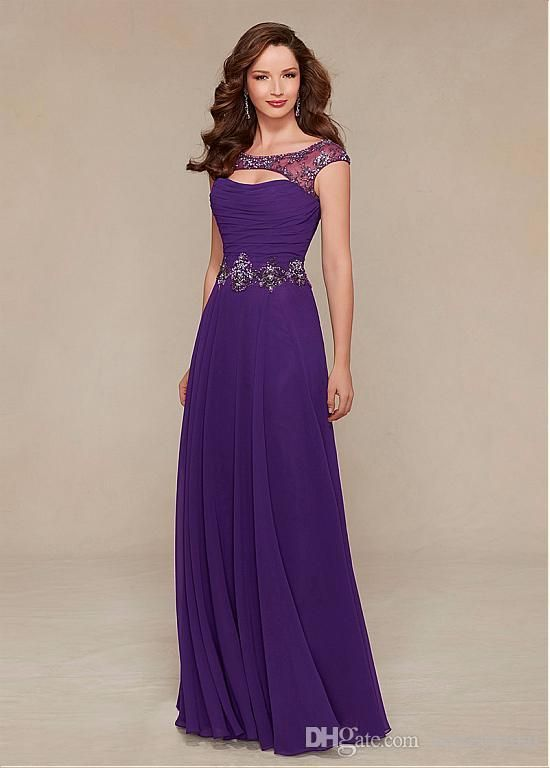 4e8d4290f8a Chiffon Mother Of The Bride Groom Dresses Scoop Neck Floor Length With  Applique Ruffle Beads Cheap Wedding Party Dresses  dl30097 Mother Of The  Bride ...
