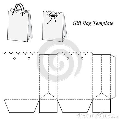 interesting gift bag template template box bag pinterest