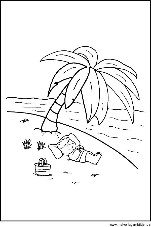 Malvorlagen Am Strand Malvorlage Junge Im Urlaub Am Meer Herunterladen