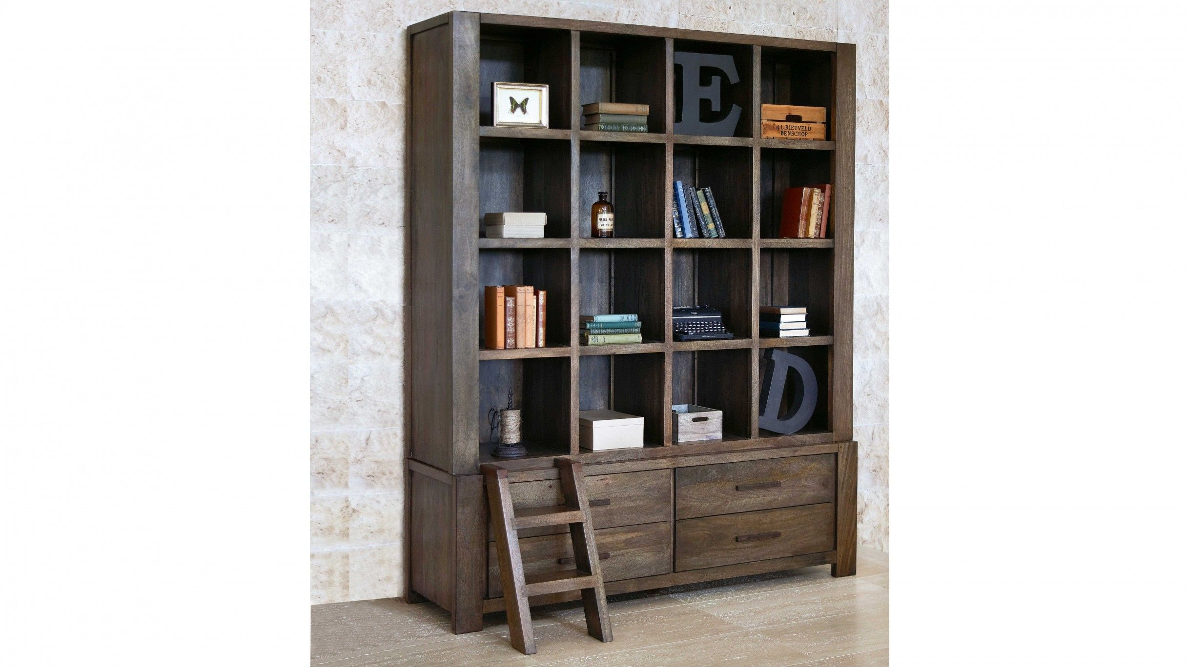 Hampton Wall Unit Bookcase Harvey Norman