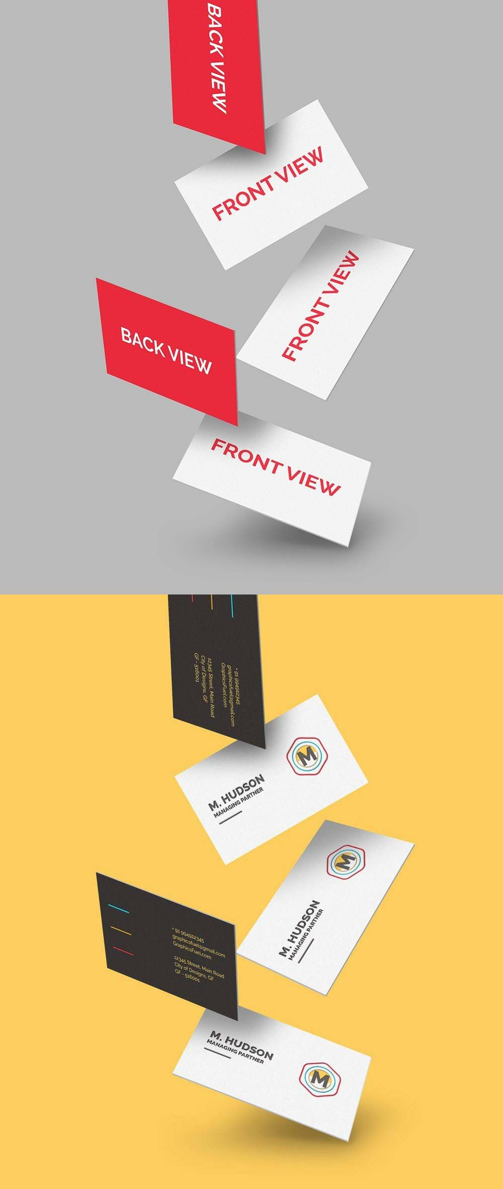 Free Falling Business Cards Mockup Business Card Mock Up Free Business Card Mockup Web Design Resources