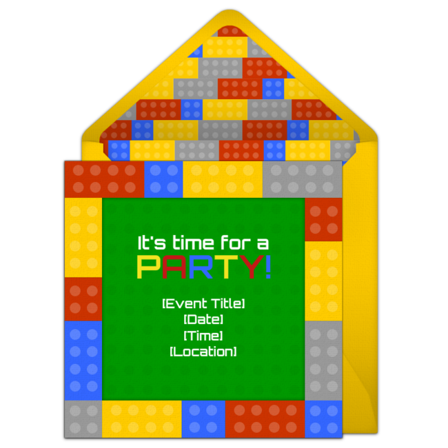 Free LEGO Birthday Invitations Colorful Online Invitation You Can Personalize And Send Via Email