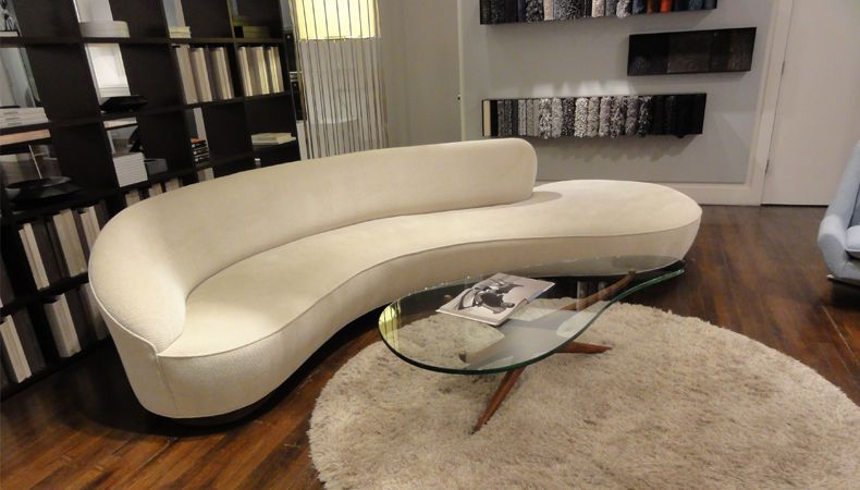 Vladimir Kagan Serpentine Sofa Directional USA 1975 | Curvy Sofas |  Pinterest | Lounge Sofa, Grey Fabric And Chrome Plating
