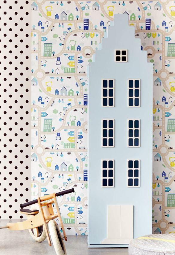 Eijffinger Tout Petit #behang voor een stoere #jongenskamer collectie 2015 http://www.decohome.nl/assortiment/behang/eijffinger/3538