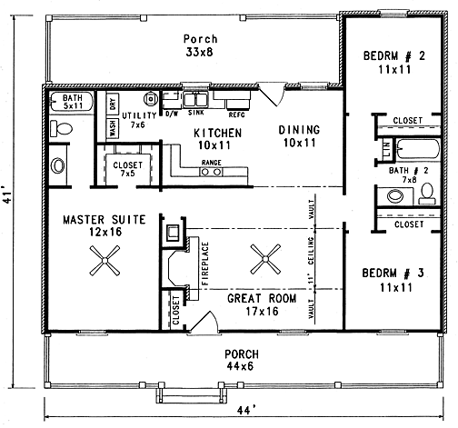 House Styles Info Cabin Floor Plans House Floor Plans Country House Plans