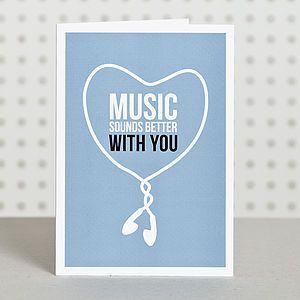Music Lover Anniversary Card Word Valentine Music Funniest Valentines Cards Funny Anniversary Cards