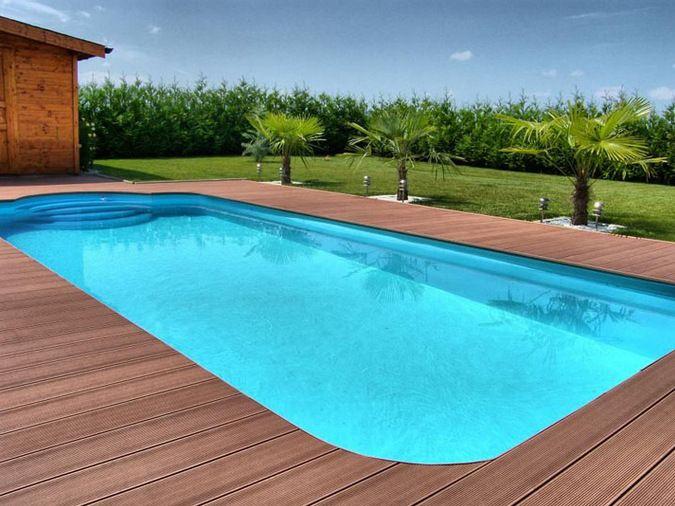 Wooden floor waterproof wood for swimming pool Giardino