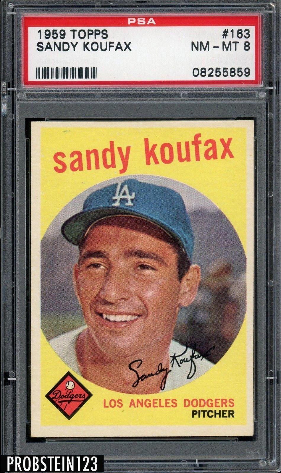 1959 Topps 163 Sandy Koufax Los Angeles Dodgers HOF PSA 8