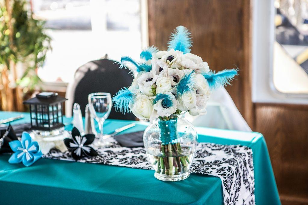 Black, White And Turquoise Fairytale Wedding Cruise