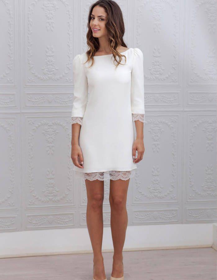 c2908d374a556 Robe de mariée d hiver courte - 22 robes de mariée d hiver ...