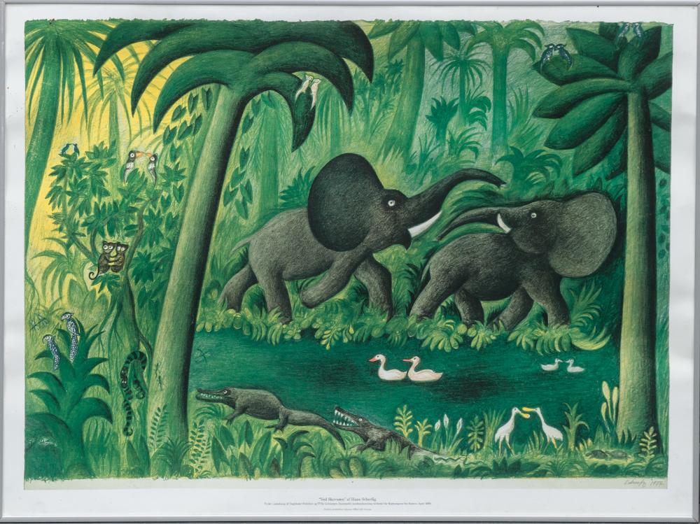 Hans Scherfig In 2020 Art Poster Art Elephant Illustration